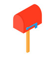 close mailbox icon isometric 3d style vector image vector image