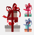 color gift boxes set in vector image