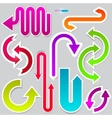 colorful arrows on grey background vector image vector image