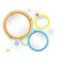 colorful circle background vector image