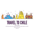 country chile thin line guide of goods places and vector image
