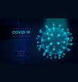 covid19-19 3d rendering virus vector image