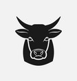 cow head silhouette farm animal icon vector image