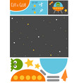 education paper game for children ufo in space vector image vector image