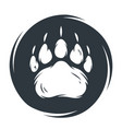 emblem wild silhouette grizzly bear footprint
