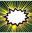 Empty comic sun beam speech bubble vector image vector image