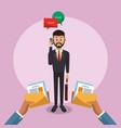 executive businessman cartoon vector image