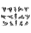 extreme bike big set 14x motocross vector image vector image