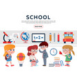 flat school elements set vector image