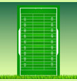 football field with grass on green backdrop vector image vector image