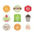 Greek cuisine label vector image vector image