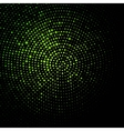 green geometric flash 10 eps vector image