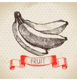 Hand drawn sketch fruit banana Eco food vector image vector image