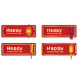 happy chinese new year with a chinese lantern vector image