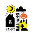 happy halloween card cover in simple scandinavian vector image