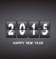 Happy New Year 2015 mechanical flip clock