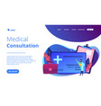 healthcare smart card concept vector image