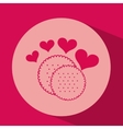 heart red cartoon cookie icon design vector image