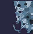 human head and viruses vector image vector image