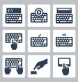 keyboard and typing related icon set vector image vector image