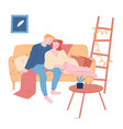 love romantic relations young loving couple vector image
