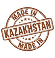 made in kazakhstan brown grunge round stamp