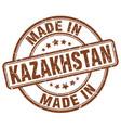 made in kazakhstan brown grunge round stamp vector image vector image