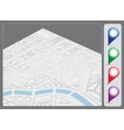 Map background vector image vector image