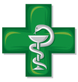 medical cross symbol vector image vector image