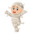 mummy walking vector image vector image