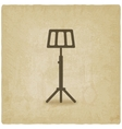 music stand old background vector image vector image
