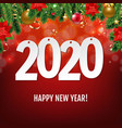 new year card with christmas border vector image vector image