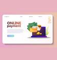 online payment concept set vector image