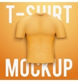 Orange t-shirt on background Product mockup vector image vector image