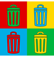 Pop art garbage vector image vector image
