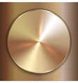 precious metal round golden plate with line vector image vector image