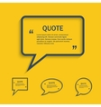 Quote line speech bubble set vector image
