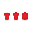 red set of t-shirts vector image vector image