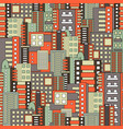 residential district seamless pattern vector image vector image