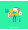 Secure local web and data exchang flat concept vector image vector image