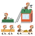 Set Ant worker vector image vector image
