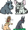 Set of funny sitting dogs cartoon vector image