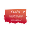 simplicity quote geometric rectangle shape with vector image vector image