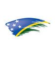 solomon islands flag on a vector image