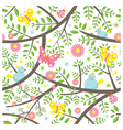 Spring Season Seamless Pattern vector image