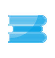 stack of books icon vector image vector image