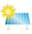 sun and solar panel vector image