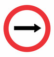 traffic way sign vector image vector image