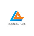 triangle line business logo vector image vector image