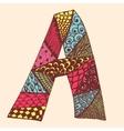 Vintage monogram A Doodle colorful alphabet vector image vector image